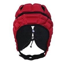 Мягкий головной убор детский футбольный шлем вратаря анти-столкновения шлем для футболиста красный