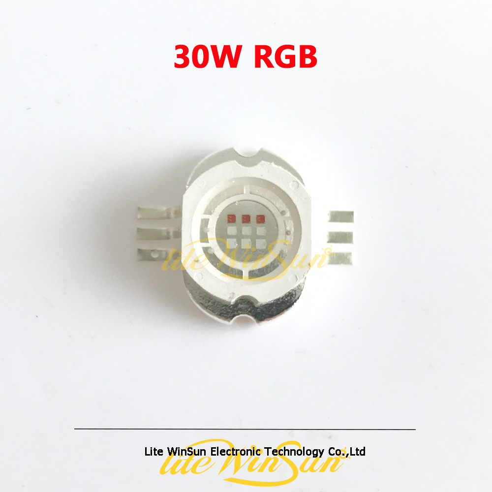 Freeship 1pc 30W RGB LED Source For Stage Light Prolight 30Watt LED Matrix Light