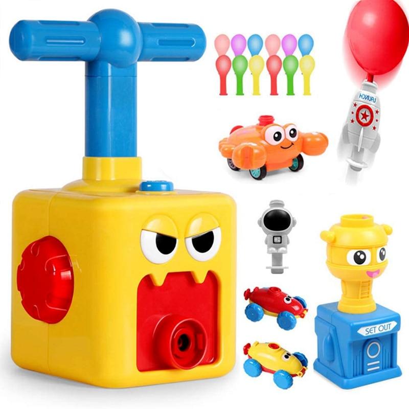 Children's Balloon Car Fun Balloon Toy Launch Tower Inertia Aerodynamic Car Educational Toy Gift for Children