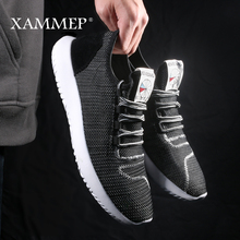Men Casual Shoes Men Sneakers Brand Male Mesh Loafers Men Shoes Breathable Slip On Flats Spring Summer High Quality Xammep
