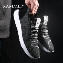 Xammep zapatos informales de malla para hombre, mocasines transpirables sin cordones, para primavera y verano