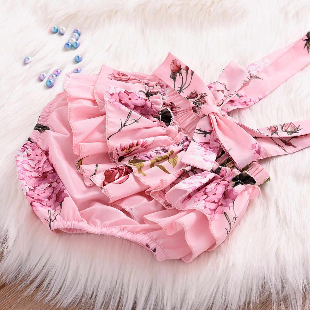 幼児の幼児の女の子衣装セットノースリーブフリルトップ全体花ショート服スーツ男の子の服新生児服セット