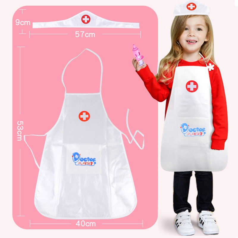 1set Baby Pretend Play Doctor Clothing Toys Kids Role-playing Games Hospital Doctor Set Toys Halloween Pretend Play Performing Nurse Toys