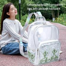 Student Backpack Fresh Isolated Alien Transparent Backpacks PVC Casual Laser Bag For Girl And Women Fashion Sequins