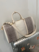 Luxury Crocodile Travel Boarding Travel Bag Business Trip Travel Bag Female Hand Luggage Bag Tide Large Capacity Unisex Trendy