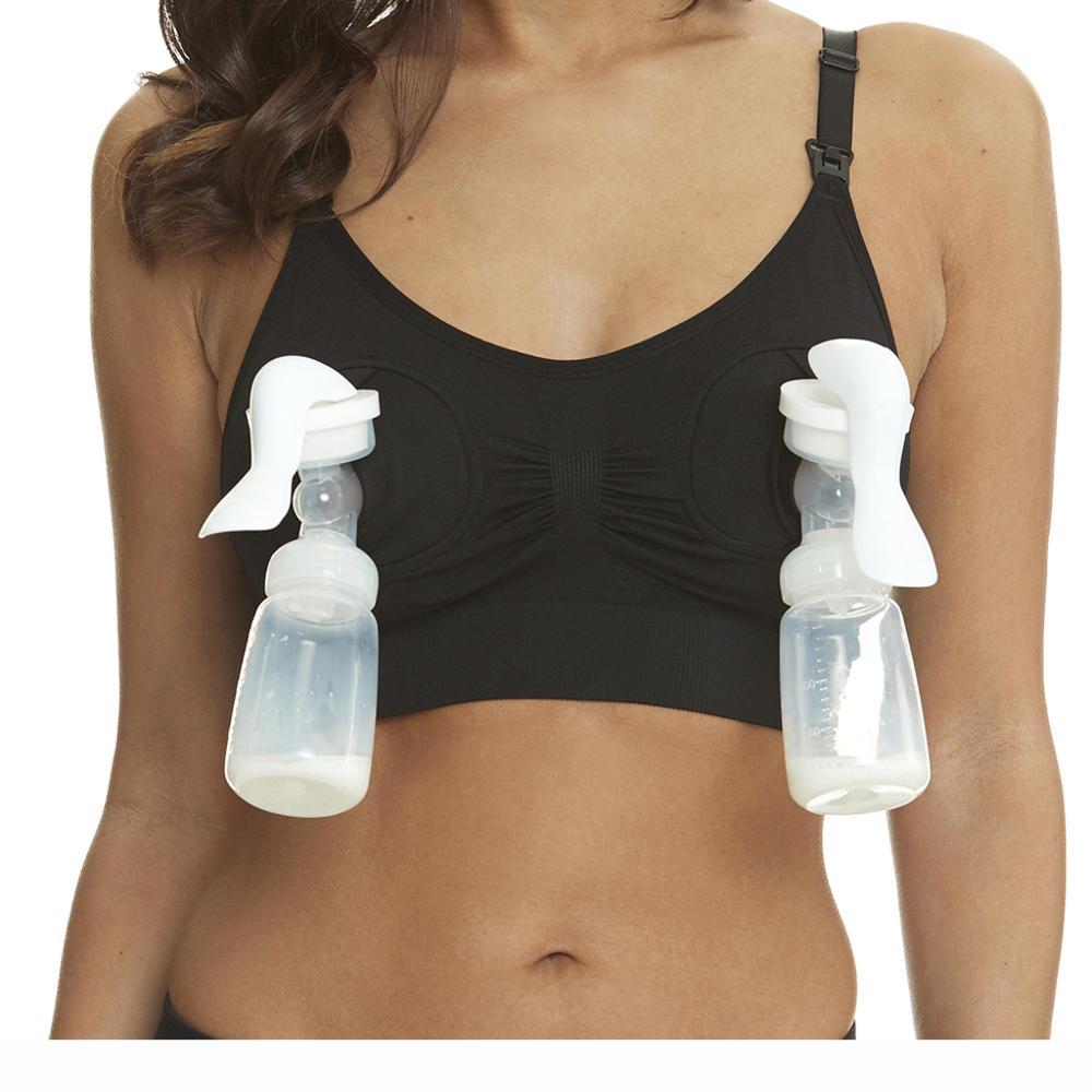 Nursing Bra Hands Free Breast Feeding Pump Pumping Breastpump Maternity Nursing Bra Size S-XL