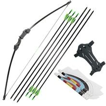 Arrow-Set Longbow-Kit Recurve Takedown Bow Shooting Archery15-20lbs Straight Kids And