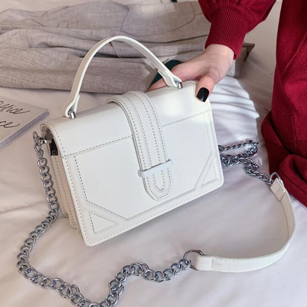 Elegant Female Square Tote Bag 2020 Fashion New High Quality PU Leather Women's Designer Handbag Chain Shoulder Messenger Bag