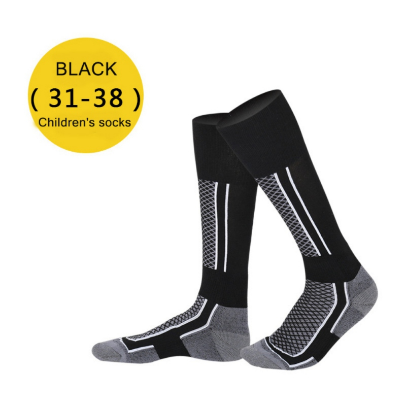 Winter Kids Children Thermal Ski Socks Thicken Cotton Warm Cycling Socks Snowboarding Adult Skiing Hiking Socks Leg Warmer