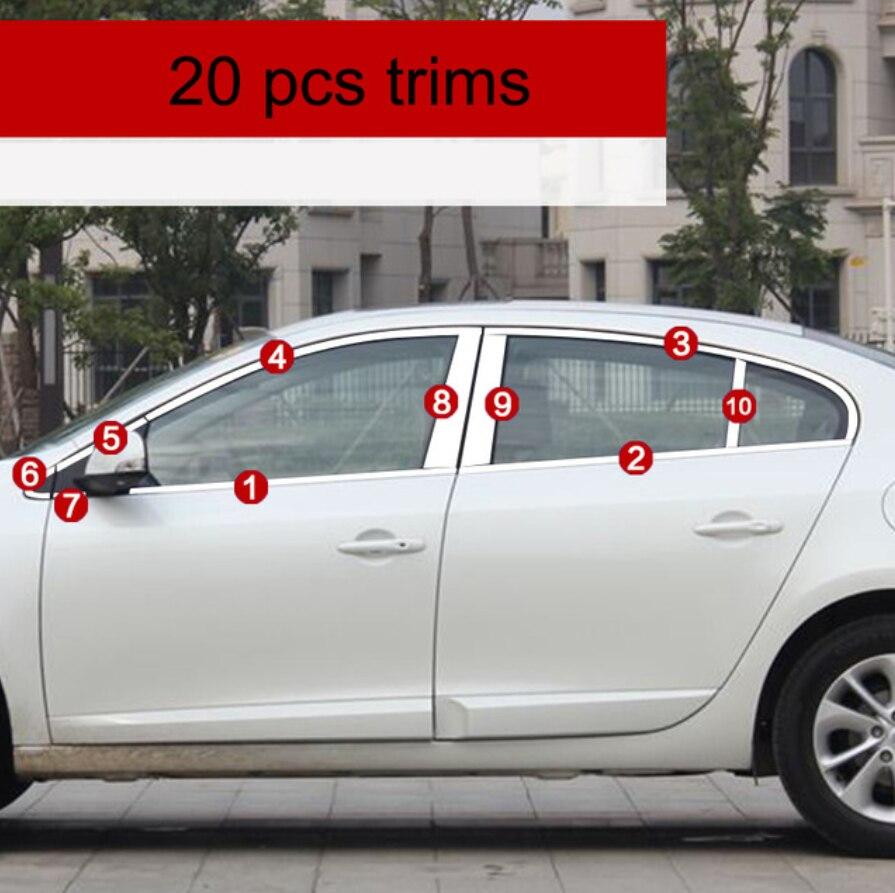 Edelstahl auto fenster trimmt für renault fluence 2010 2011 2012 2013 2014 2015 2016 2017 2018 Samsung SM3