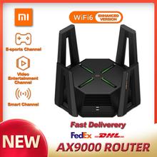 XIAOMI AX9000 Router Tri-Channels WIFI6 Enhanced Version Quad-Core CPU 1GB RAM 4K QAM 12 High-Gain Antennas Mesh E-sport Router