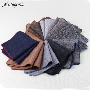 High Quality Wool Pocket Towel Squared Handkerchief Tuxedos Suit Accessory Pure Color Scarf Man Hanky Holiday Gift