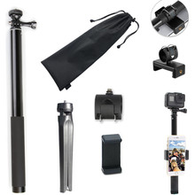 14 - 59 Inch Extendable Selfie Stick Hand Grip Monopod Tripod Mount for Gopro Hero 8 7 6 5 SJCAM/Xiaoyi yi 4K/EKEN Sports Camera portable hand grip waterproof selfie stick pole tripod for gopro hero 7 6 5 4 sjcam eken yi 4k dji osmo action camera accessory