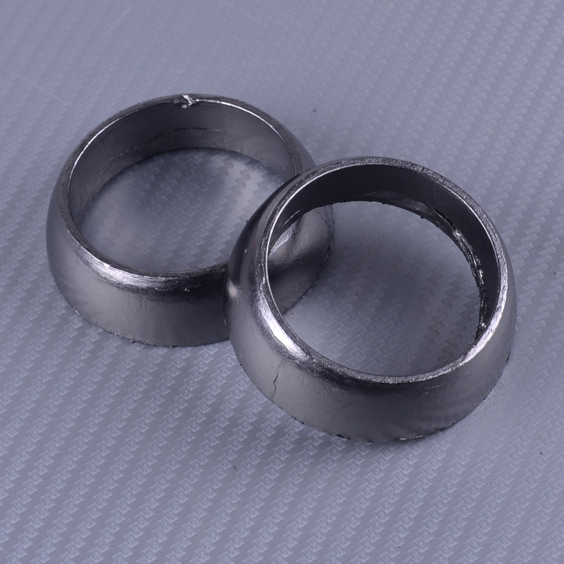 DWCX 2Pcs 3610047 Metal Silver Twin Exhaust Donut Seal Gasket Fit for <font><b>Polaris</b></font> <font><b>Sportsman</b></font> 600 700 <font><b>800</b></font> image
