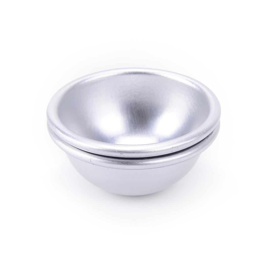 Новинка 1 набор% 2F2pcs алюминий ванна бомба формы DIY ванна газированный сфера круглый шар формыВанна бомба формы