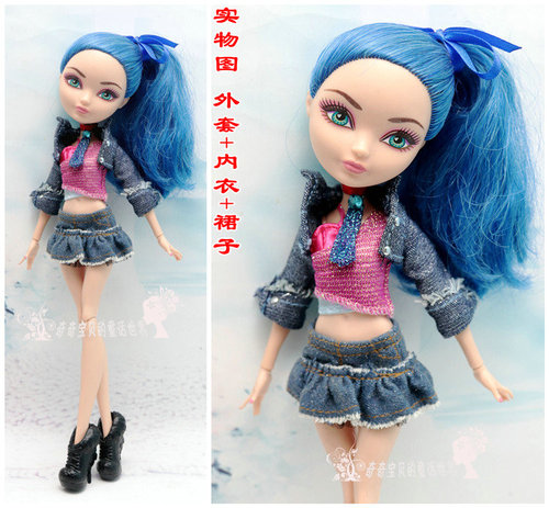Monstering High Doll Clothes Handmade Outfit Soft Personality Doll Dress Jacket Skirt Doll Clothing Set Quality Doll Clothes 14