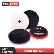 SPTA 6/7 Zoll Wolle Polieren Pad Professionelle Auto Wolle Polieren Pad Für DA Polieren Maschine Für Auto Detaillierung Wachsen Polieren