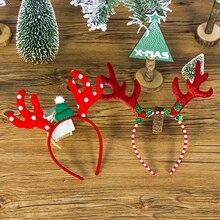 1 шт., Рождественская повязка на голову для детей и взрослых, Рождественская повязка на голову с ушами оленя для рождественской вечеринки, Рождественская повязка на голову с застежкой