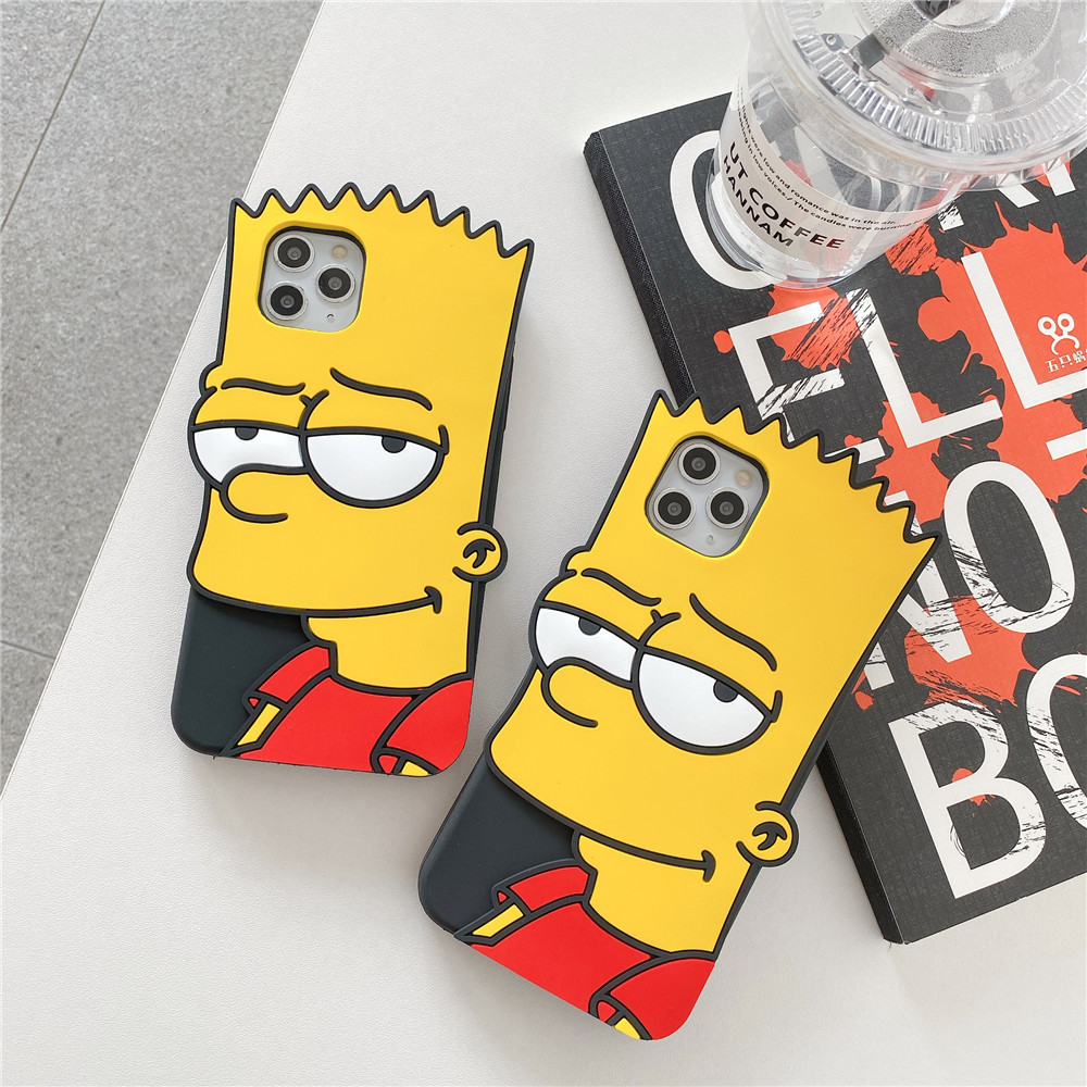 3D Cute Cartoon America Anime Boy Phone Case For Iphone 12 11 Pro X XS Max XR 7 8 6 S Plus