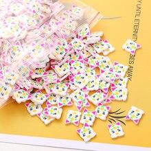Láminas uñas de arcilla polimérica con huevos de Pascua, accesorios de arte, lentejuelas de conejo de Pascua para diseño de uñas, escamas de cerámica blanda para manicura