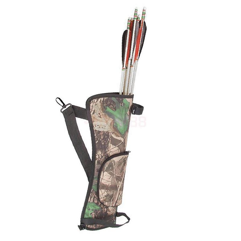 Archery Quiver Back Waist Shoulder Bag Arrow Bow Holder Pouch Organizer Hip Case