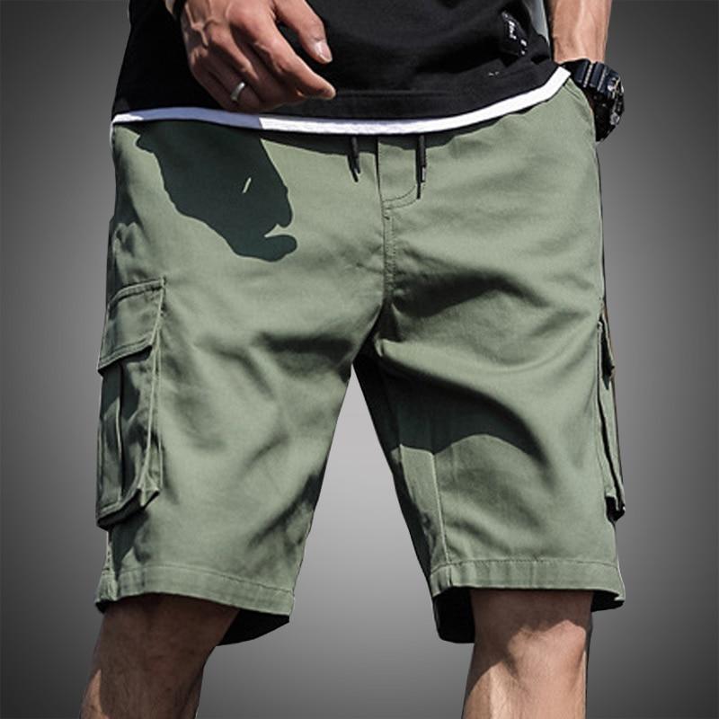 Men's Shorts Bermudas Army-Green Tactical Plus-Size Cotton Summer 6XL 7XL 4XL 5XL