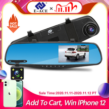 E ACE Full Hd 1080P Auto Dvr Camera Auto 4.3 Inch Achteruitkijkspiegel Digitale Video Recorder Dual Lens Registratory Camcorder
