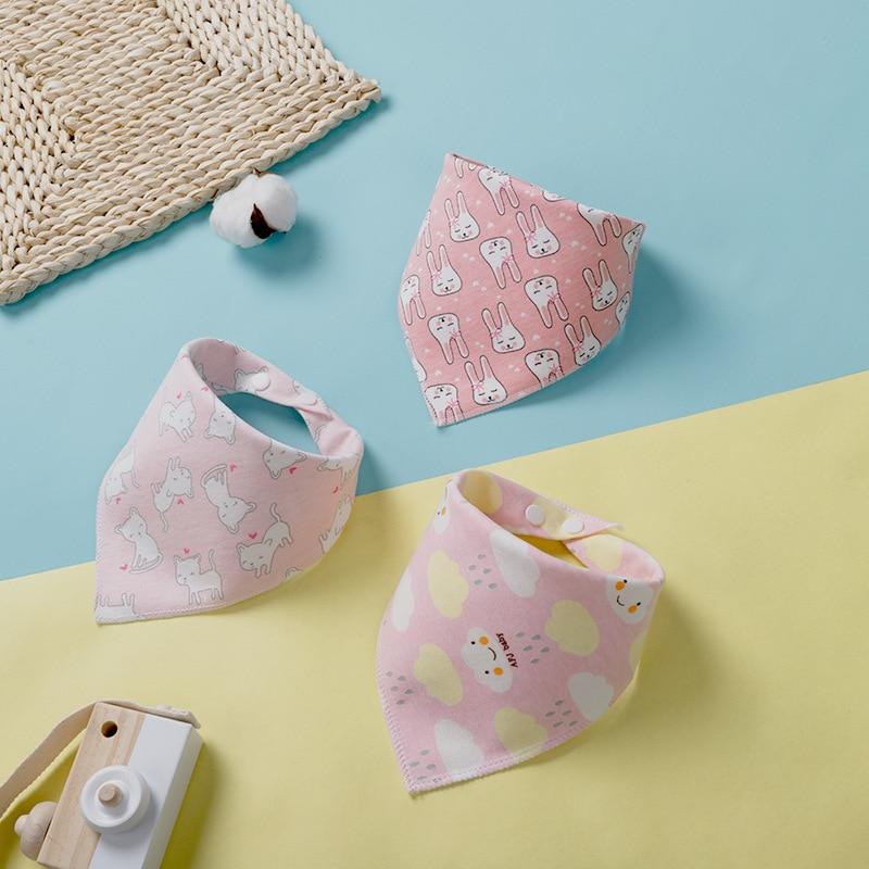 Бандана-нагрудник из хлопка, детская одежда для кормления, треугольная слюнявчик для младенцев, мультяшное слюнявчик, аксессуары для кормления младенцев, детские вещи 5