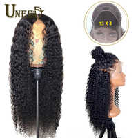 13x4 Lace Front for Black Women Human Hair Wig Mongolian Afro Kinky Curly Remy Hair 150% Density PrePlucked Natural Hairline