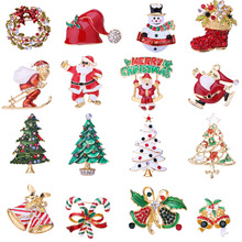 new Christmas snowman brooch  corsage tree insect gifts kids jewelry pins accessories