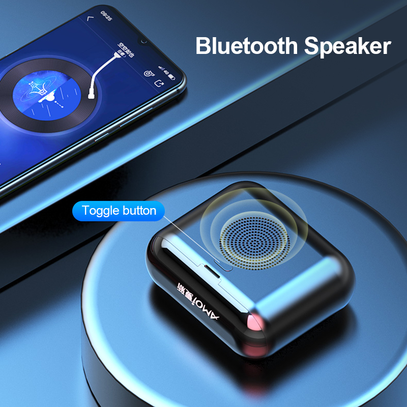 4in1 TWS True Wireless Bluetooth Earphone Speakers Stereo Bass Earbud Headphones In ear Sports Headset LED Display Phones MIC