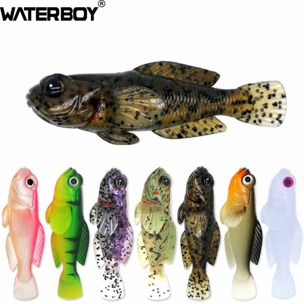 WATERBOY TW 5pk HD GOBY Swimbaits 0.33oz 3inch Fish Baits Softbait Soft Fishing Lure Finest Detailed 75mm 9.3g Artificial Bait