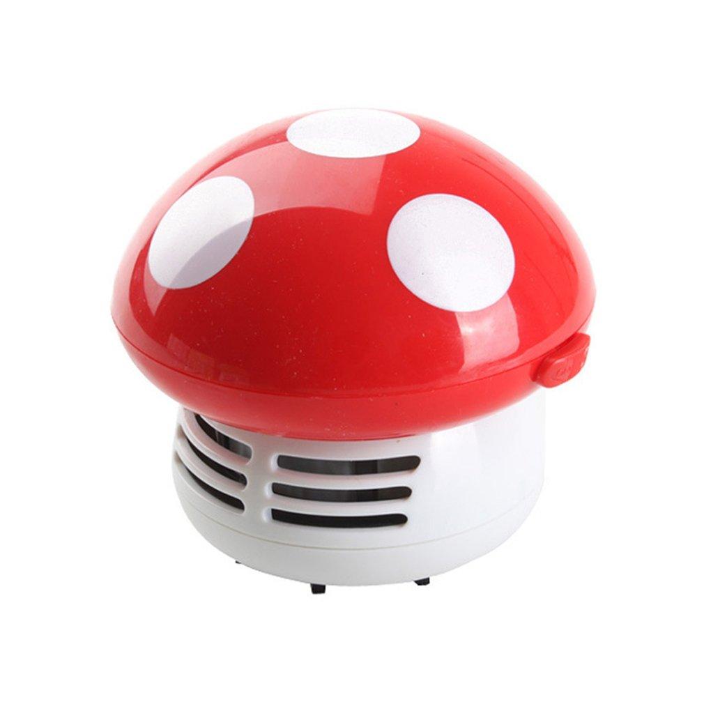 Mini Vacuum Cleaner 6 Colors Cute Mini Mushroom Corner Desk Table Dust Vacuum Cleaner For Car Home Computer Sweeper