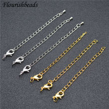 50pcs/lot Metal Extended Extension Tail Chain Lobster Clasps Connector For DIY Jewelry Making Findings Bracelet Necklace