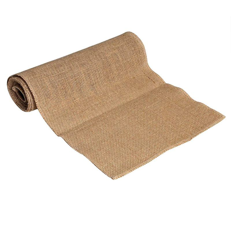 ELEG-Canvas Burlap Natural Burlap 10m Pure Roll Rustic Jute DIY Decoration 30cm
