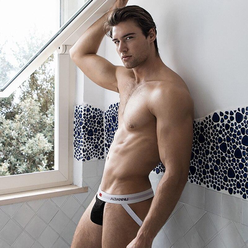 2020 NEW Sexy Underwear Men Jockstrap Gay Man Underpants Breathable Men's Thongs G-Strings Slip Homme Bulge Pouch Panties AD46