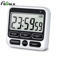 Цифровой экран кухонный таймер большой дисплей цифровой таймер квадратный поварской подсчет Будильник с таймером Часы Секундомер для сна часы