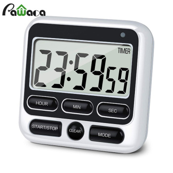 Digital Screen Kitchen Timer Large Display Digital Timer Square Cooking Count Up Countdown Alarm Clock Sleep Stopwatch Clock