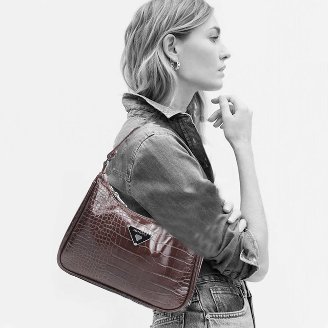 Retro Shoulder Bag For Women Trendy Vintage Nylon Handbag Female Small Subaxillary Bags Casual Retro Mini Shoulder Bag Bella 180 3