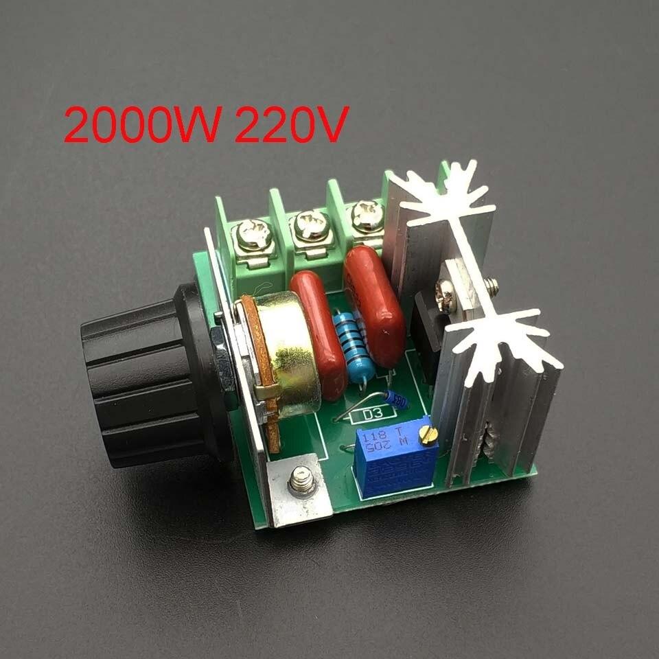 Импорт 2000 Вт 220 В высокомощный Тиристор диммер Электронный регулятор напряжения для контроля температуры