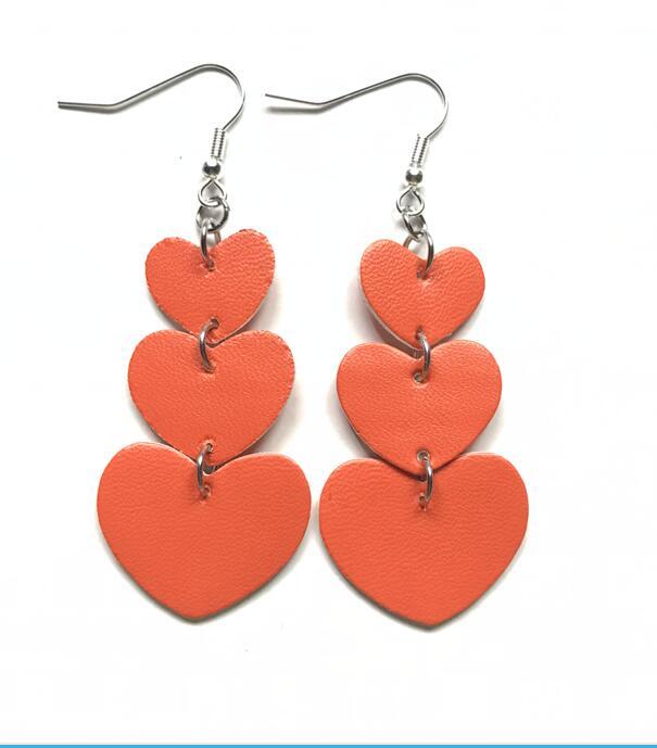 2019 Long Love Heart Red Earrings Sweet Korean Cute Tassel Drop Dangle Earrings For Women Girls Fashion Party Ear Jewelry