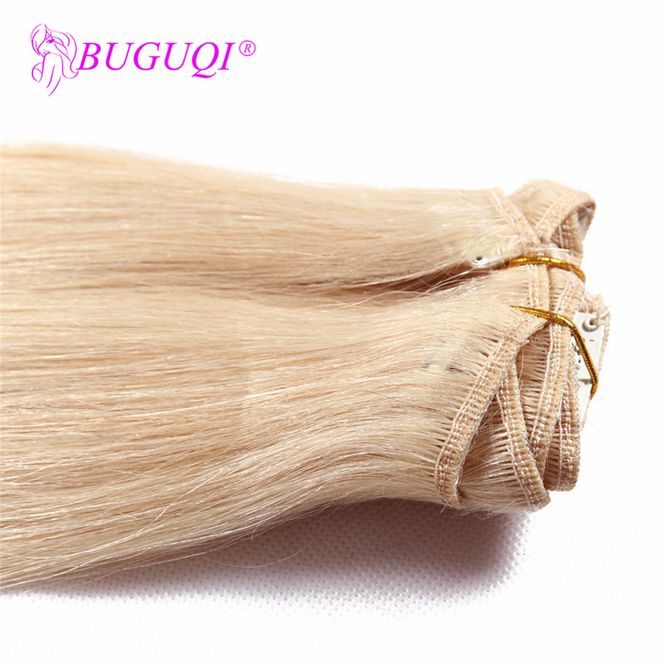 BUGUQI Hair Clip In Human Hair Extensions Mongolian 60 Remy 16 26 Inch 100g Machine Made Clip Human Hair Extensions in Clip in Hair Extensions from Hair Extensions Wigs