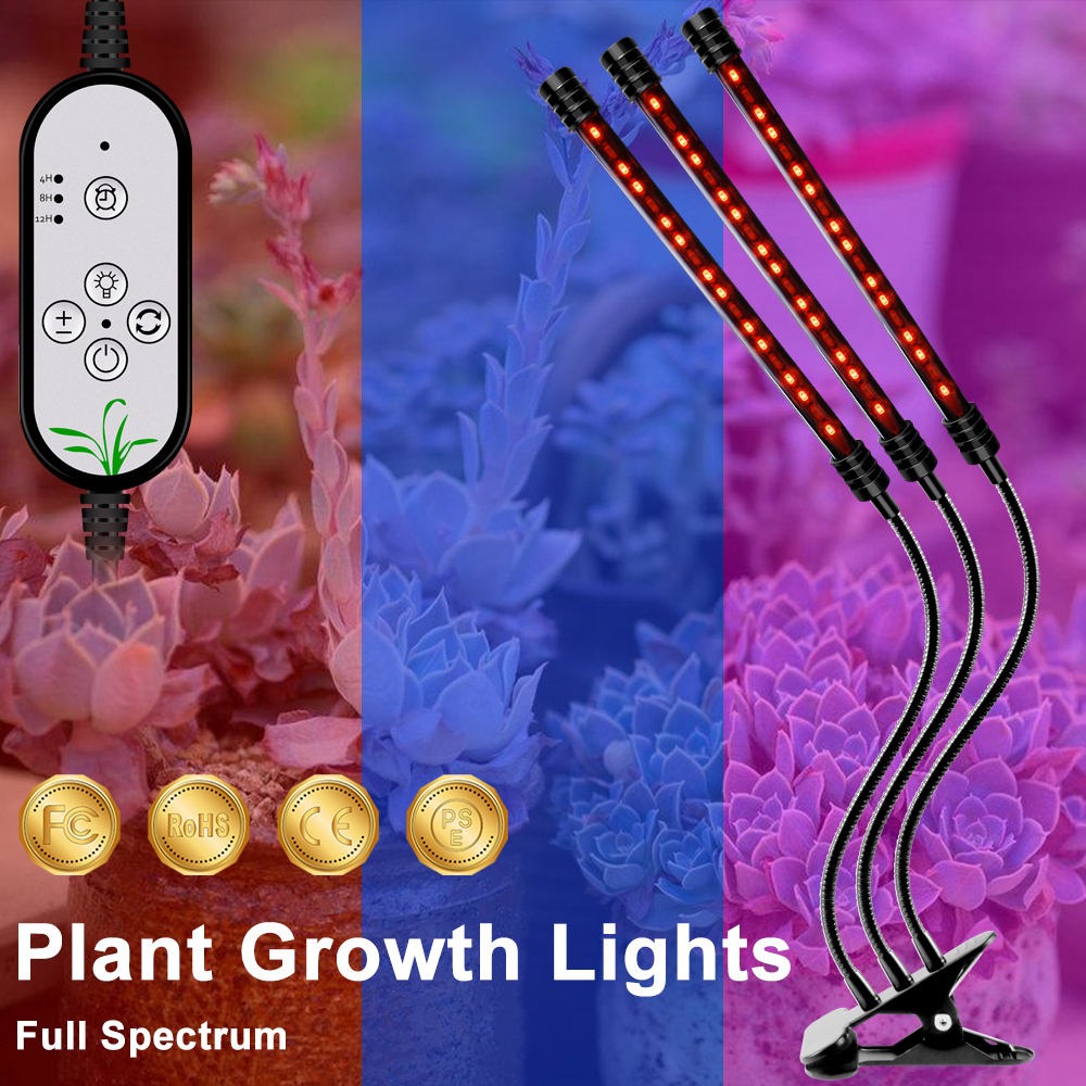 Waterproof Grow Light USB Plant Lamp LED Indoor Growing Lighting Full Spectrum LED Hydroponic Light 5V LED Phyto Lamp 9W 18W 27W