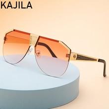 Oversized Square Men's Sunglasses 2020 Luxury Brand Big Fram