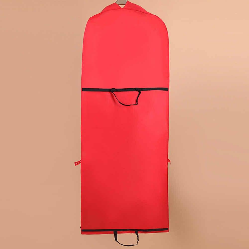 แบบพับได้เสื้อผ้าครอบคลุมเสื้อผ้าชุดเก็บสำหรับเจ้าสาวงานแต่งงานชุดป้องกันฝุ่น Protector