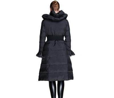 New Brand 2020 Winter 90% Duck Down Jacket Women Elegant Ruffles Cute Long Parkas Double Collar Warm Coat Casaco Feminino LX2320
