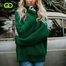 GOPLUS Autumn Winter Turtleneck Womens Knitted Sweater Plus Size Thick Warm Long Sleeve Pullover Clothing Femme
