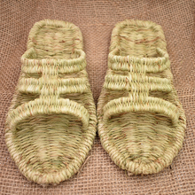 2020 new handmade straw shoes summer men and women weave sandals casual personality home shoes Chinese ancient style lovers shoe jarycorn shoes women s straw slippers new couple shoes handmade chinese style comfortable sandals2020 summer fashion unisex home
