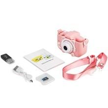 Cámara para niños 12.0MP Pantalla de 1080P 2,0 pulgadas vídeo para niños con 32GB tarjeta TF de cámara de temporizador de juguete anticaída para niños