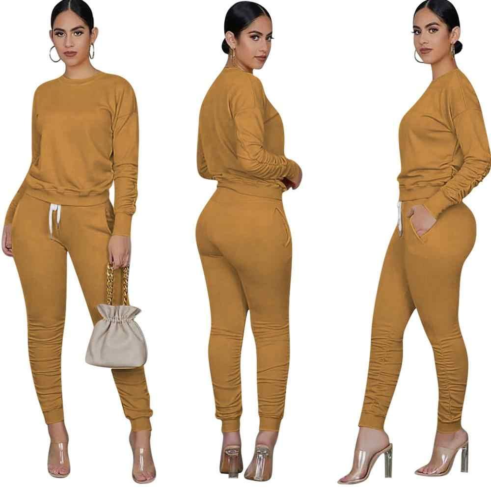 Tweedelige Set Vrouwen 2 Delige Set Gestapeld Leggings Kleding Voor Vrouwen Outfits Gestapeld Broek Trainingspak Vrouwelijke Vallen Kleren 2020